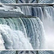 Niagara Falls American Side Closeup With Warp Frame Poster