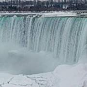 Niagara Falls Canada In Winter Poster