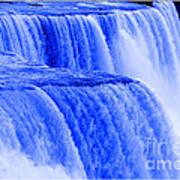 Niagara Falls Closeup In Blue Poster