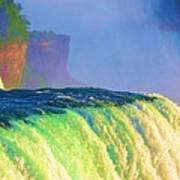 Niagara Falls In Abstract Poster