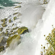 Niagara Falls On The Rocks Poster