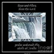 Niagara Falls Seas And Rivers Bless The Lord Praise And Exalt Him Above All Forever Poster