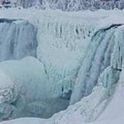 Niagara Falls Usa In Winter Poster