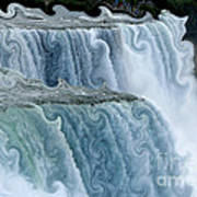 Niagara Falls With Curlicue Effect Poster