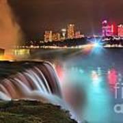 Niagara Starbust Skyline Panorama Poster