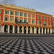 Nice France - The Cheerful Colors Of Place Massena Poster