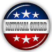 Nice National Guard Shield Poster by Pamela Johnson