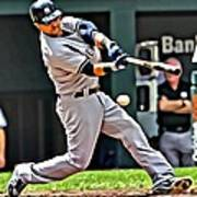 Nick Swisher Painting Poster