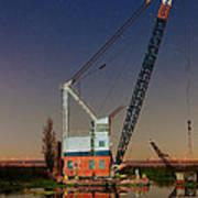 Night Crane Poster