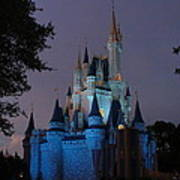 Night Illuminates Cinderella Castle Poster