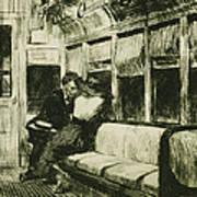 Night On The El Train Poster by Edward Hopper