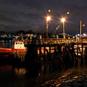 Night Pier Poster