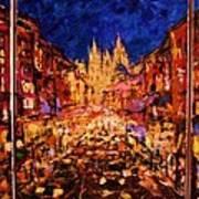 Night Prague Poster