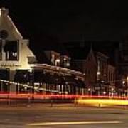 Night Scene At The Intersection Of Main Street And Schutstraat In Hoogeveen Poster