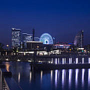 Night Scene In Blue Of Minatomirai In Yokohama Poster
