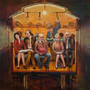 Night Train Poster by Jennifer Croom