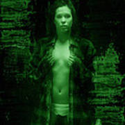 Night Vision Woman Poster