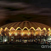 night WVU basketball Coliseum arena in Poster