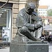 Nikola Tesla Sculpture In Zagreb Poster