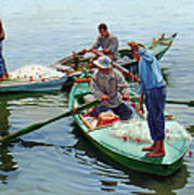 Nile River Fishermen  Poster