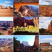 Nine Utah Landmarks Poster by Catherine Sherman