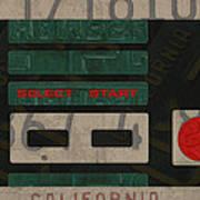 Nintendo Controller Vintage Video Game License Plate Art Poster