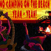No Camping On The Beach Poster