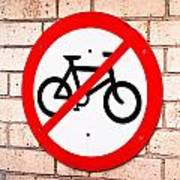 No Cycling Poster