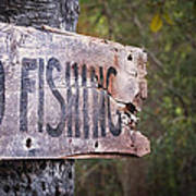 No Fishing Poster