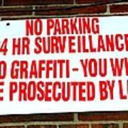 No Graffiti Poster