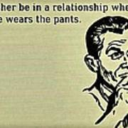 No Pants Relationship Poster