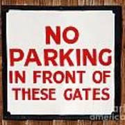 No Parking Vintage Sign Poster