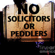No Solicitors Or Peddlers Poster