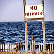 No Swimming Poster