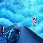 No U Turn In Blue Poster