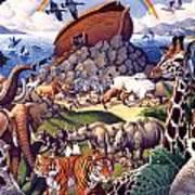Noah's Ark Poster by Mia Tavonatti