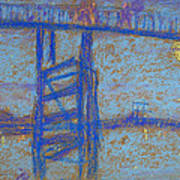 Nocturne. Battersea Bridge Poster