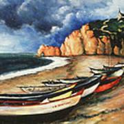 Normandy Coast - Landscape Oil Poster