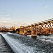 Norristown Dam And Railroad Bridge Poster