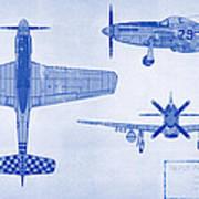 North American P-51d Mustang Poster