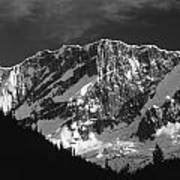1m2616-bw-north Face Mt. Bonney  Poster