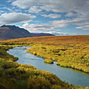 North Klondike River Flowing Poster