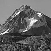 105615-north Sister Or,bw Poster