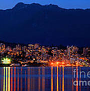 North Vancouver At Dusk Poster