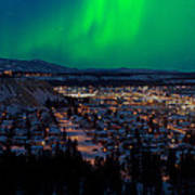 Northern Lights Over Whitehorse Poster