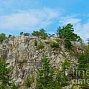 Northern Ontario Rock Face Poster