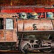 Northern Pacific Vintage Locomotive Train Engine Poster