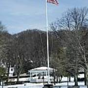 Northport Gazebo In The Snow Poster