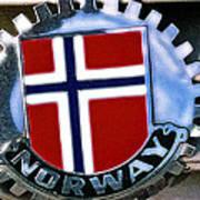 Norway Car Emblem Poster