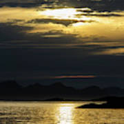 Norway Dramatic Evening Light Poster